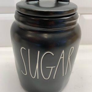 Rae Dunn Sugar Black Canister